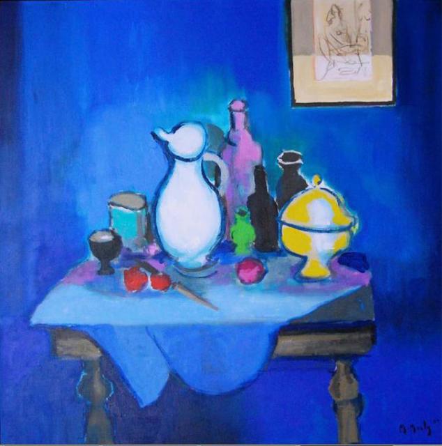 , 'La Desserte, Fond Bleu,' 2004, Baterbys Art Gallery