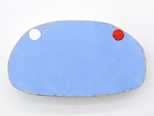 , 'Blue with White and Red Circles,' 2018, Marc Straus