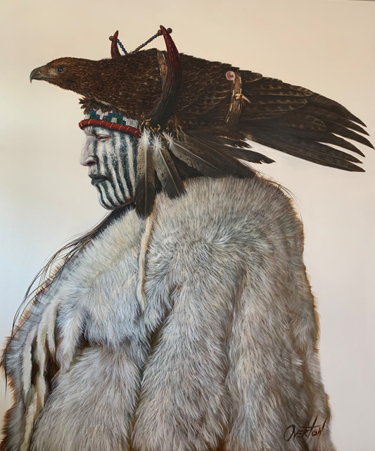 Greg Overton, 'Ghost Hawk', 2020, Painting, Oil on canvas, Trailside Galleries