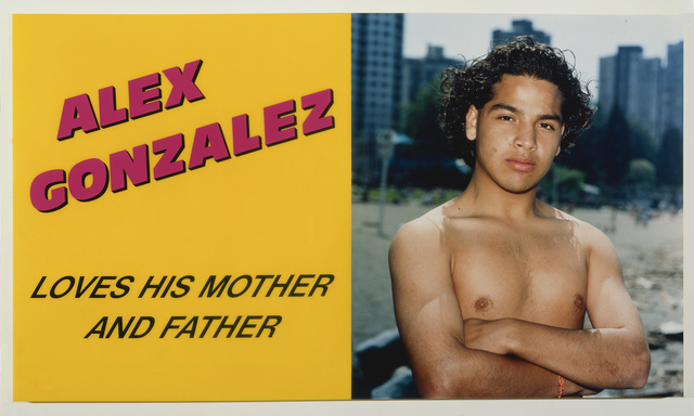 , 'Alex Gonzalez Loves his Mother and Father,' 1989, Royale Projects