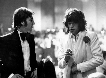 , 'John Lennon and Mick Jagger, Los Angeles, California,' 1974, Staley-Wise Gallery