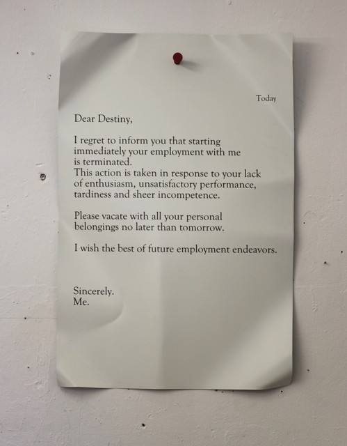 , 'Dear Destiny,' 2013, Galleria Ca' d'Oro