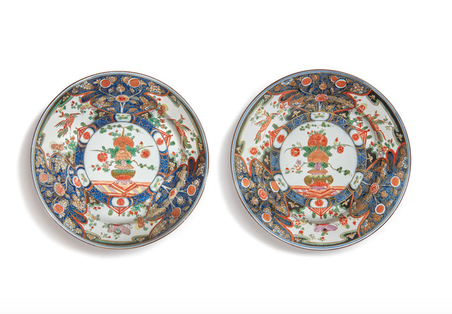 , 'Two Imari plates,' ca. 1728, Michele Beiny Inc.