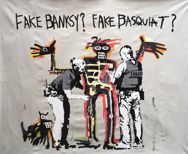 , 'FAKE BASQUIAT? FAKE BANKSY?,' 2017, Marcel Katz Art