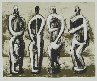 Four Standing Figures
