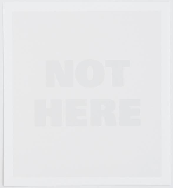 , 'Not Here,' 1995, Mai 36 Galerie