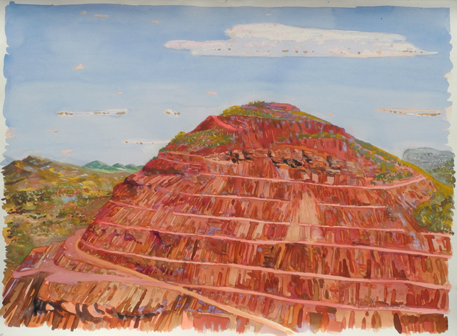 , 'From above the Crater, Tom Price Mine,' 1989, Charles Nodrum Gallery