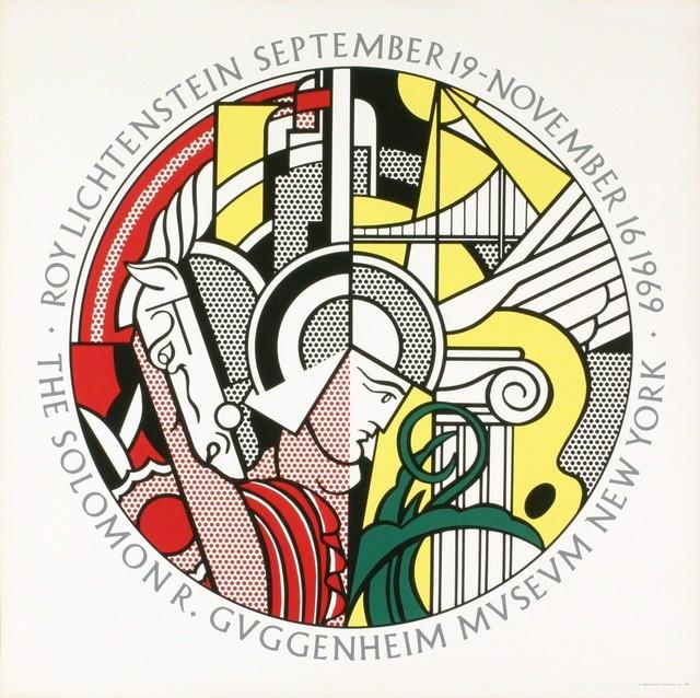 Roy Lichtenstein, 'Roy Lichtenstein, Sept. 19-Nov. 16, 1969, The Solomon R. Guggenheim Museum, New York, NOT A REPRODUCTION', 1969, Print, Hand Printed Screenprint, David Lawrence Gallery
