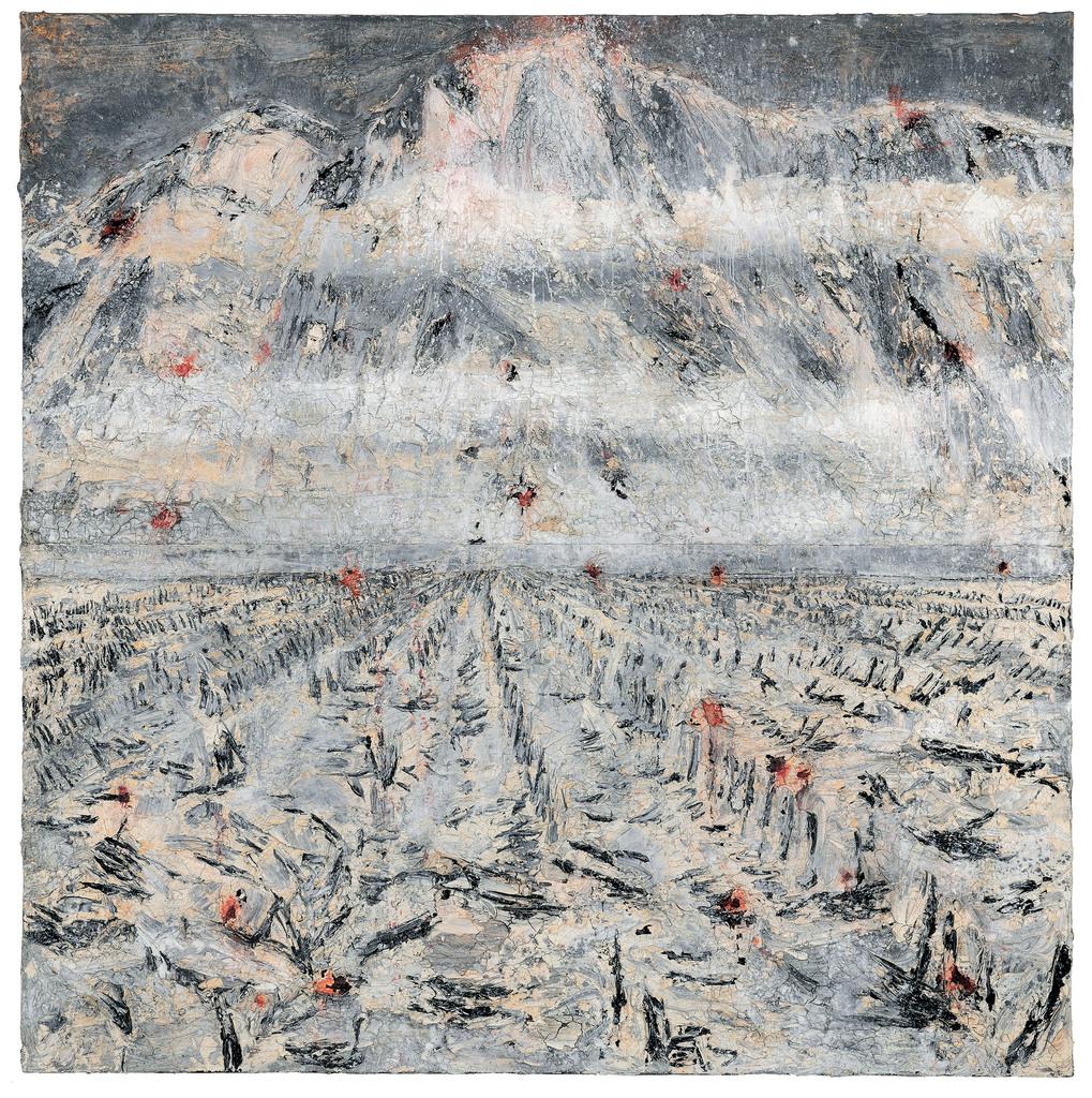 Anselm Kiefer, Wundtau regnet, 2011, 380 x 380 cm © Anselm Kiefer, Olbricht Collection, Photo Charles Duprat