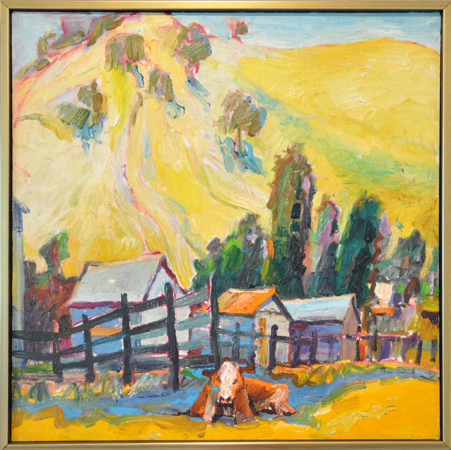 , 'Cow Resting by Fence,' ca. 1979, Osceola Gallery