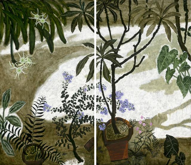 , 'Crape Myrtle Flowers in Summer Courtyard ,' 2018, Asia Art Center
