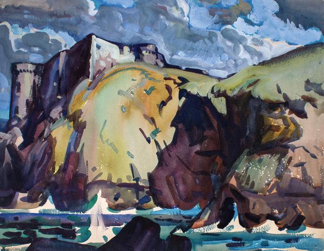 , 'Cliffs at Paramé, France,' ca. 1926, WOLFS