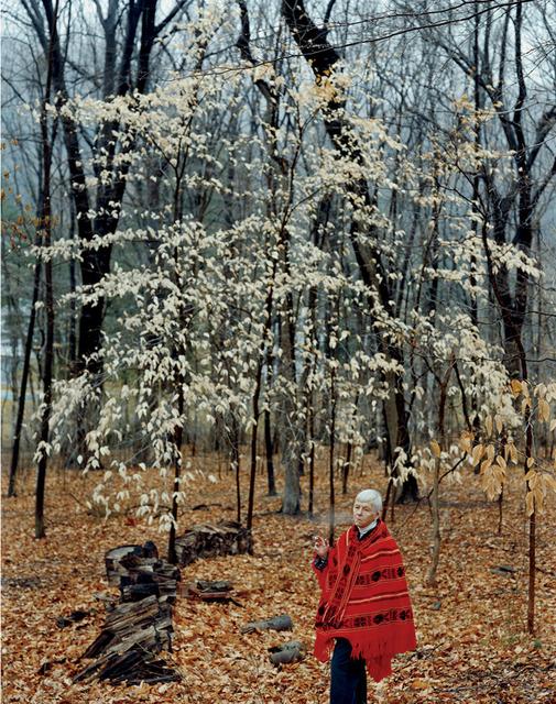 , 'My Mother in the Backyard, Oldwick, NJ,' 2000, Light Work