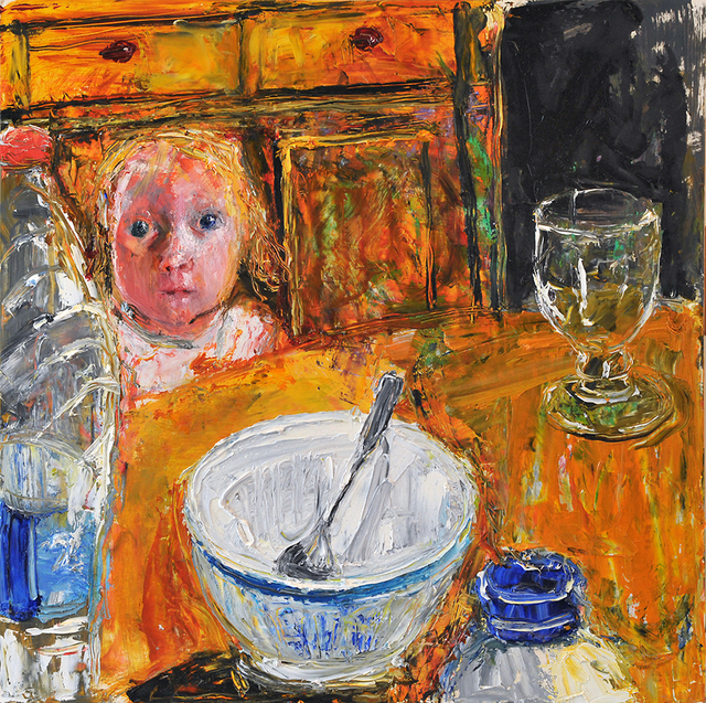 , 'Boy with Bowl and Spoon,' 2017, Connaught Brown