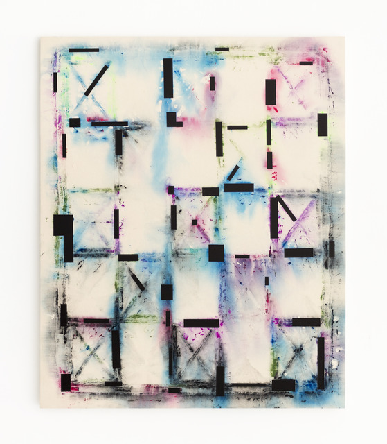 , 'Multicolor Stretcher Shroud with Block Edits,' 2017, ADA Gallery