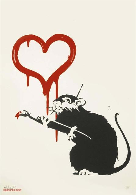Banksy, 'Love Rat - Signed ', 2004, Hang-Up Gallery