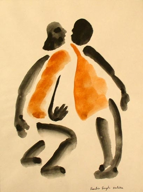 , 'Untitled (Two Orange Men),' , Aicon Gallery
