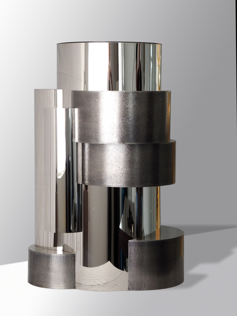 , 'Cilindros Sidetable with Textures in Nickel plated metal combined with Anthracite metal,' 2016 -2017, Garrido Gallery