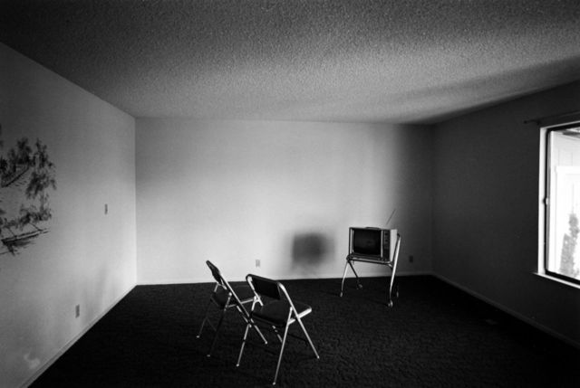 , 'Untitled (Empty Room with Two Chairs and TV),' 1973, PDNB Gallery