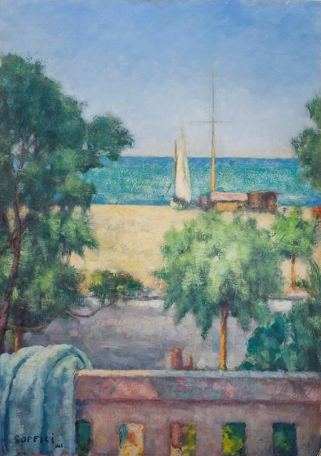 Ardengo Soffici, 'Mare dal balcone', 1941, Cambi