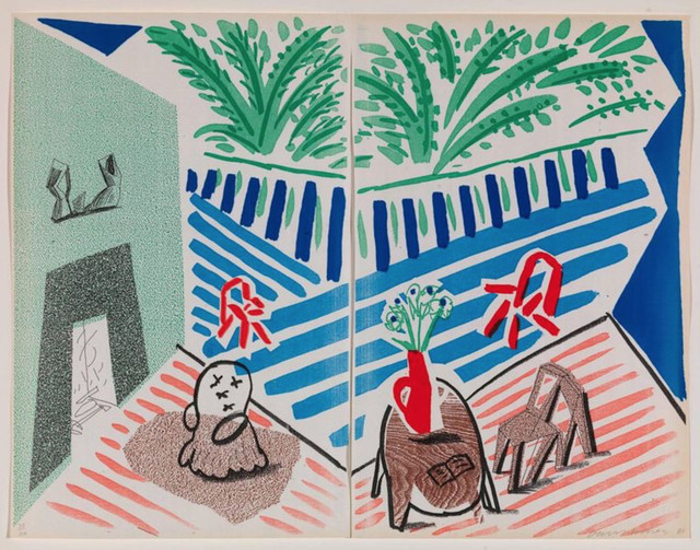 David Hockney, 'Livingroom and Terrace', 1986, Vanessa Villegas Art Advisory