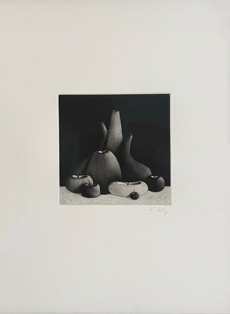 Nicolas Party, 'Still Life', 2016, Print, Mezzotint on wove paper, Lougher Contemporary