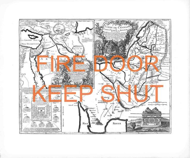 NACER, 'Fire door keep shut', 2019, Mark Hachem Gallery