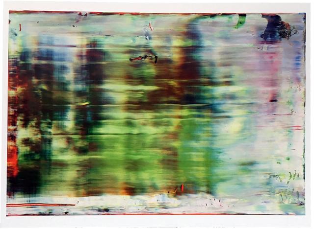 Gerhard Richter, 'Untitled (858-5)', 2002, Reproduction, Offset lithographic on GardaMatt Art 250 GSM paper, EHC Fine Art Gallery Auction