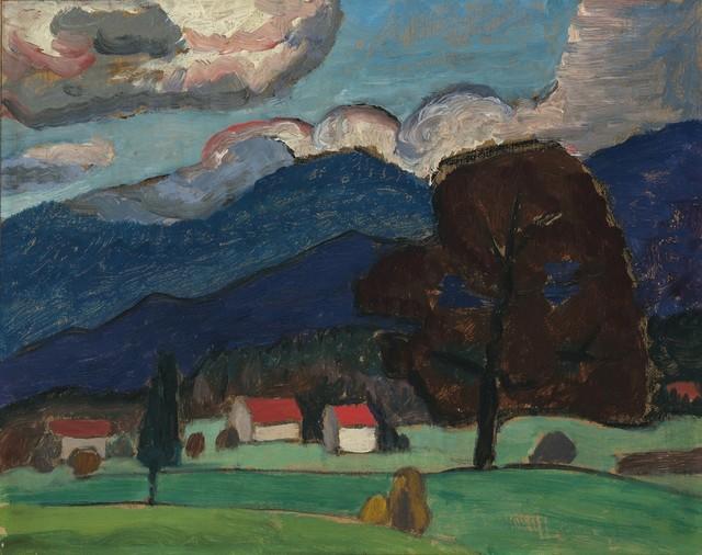 , 'Herbstlandschaft mit braunem Baum,' 1931, Galerie Thomas