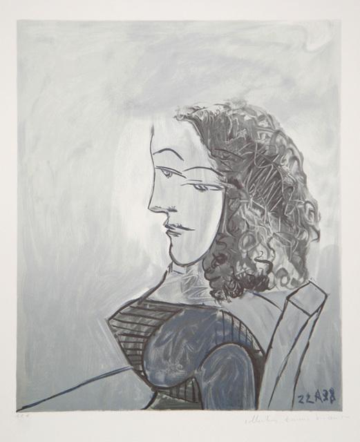 Pablo Picasso, 'Femme aux Cheveux Bouclés, 1938', 1979-1982, Print, Lithograph on Arches paper, RoGallery
