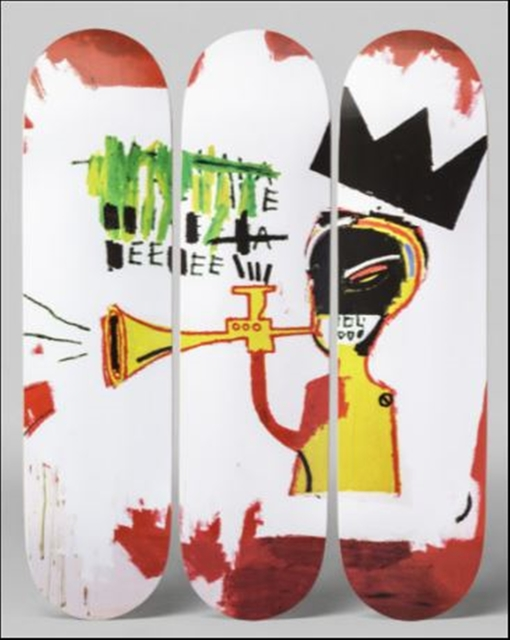 , 'Skate Deck Tryptich (Trumpet)  - Set of Three (3) Skateboard Decks - with mounting hinges,' 2015, Alpha 137 Gallery