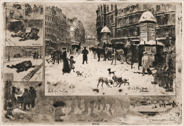 Félix Hilaire Buhot, 'L'Hiver à Paris', 1879, Print, Etching with drypoint and aquatint on paper, Skinner