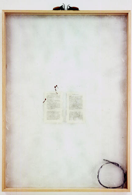 , 'La Bibliothèque des animaux: Madame Edwarda (G. Bataille),' 1991, Galerie Bernard Bouche