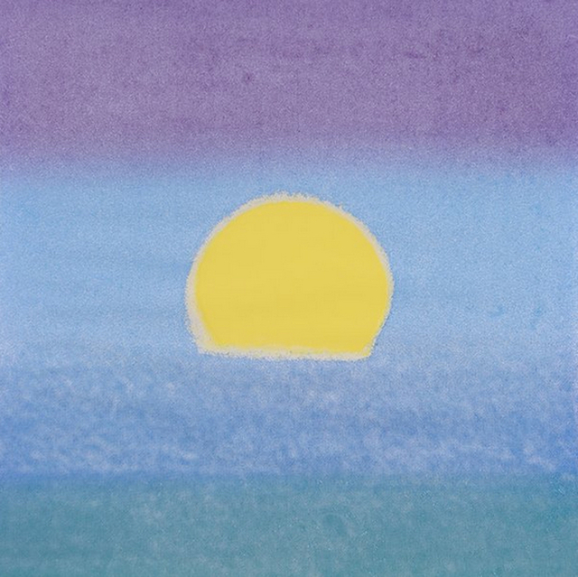 Andy Warhol, 'Sunset (Unique) (Yellow/Blue/Green)', 1972, Print, Screenprint on Paper, Revolver Gallery