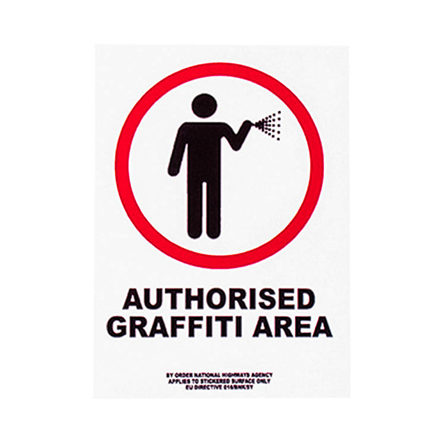 Banksy, 'AUTHORISED GRAFFITI AREA STICKER', ca. 2004, Silverback Gallery
