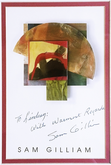 Sam Gilliam, ' Hand Signed Postcard Warmly Inscribed to Renowned African American Arts Educator ', 1988, Alpha 137 Gallery