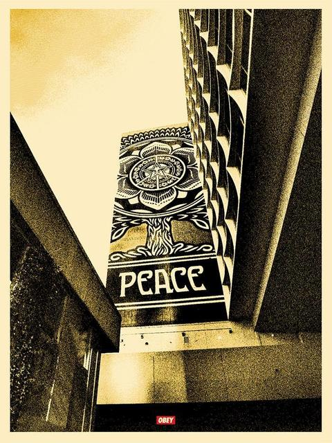 Shepard Fairey, 'Obey Giant Peace Tree Gold Version ', 2015, New Union Gallery