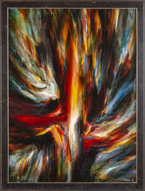 "Leonardo Nierman, 'original oil signed on board large 48"" x 36"" — Includes COA', 1978, Modern Artifact"