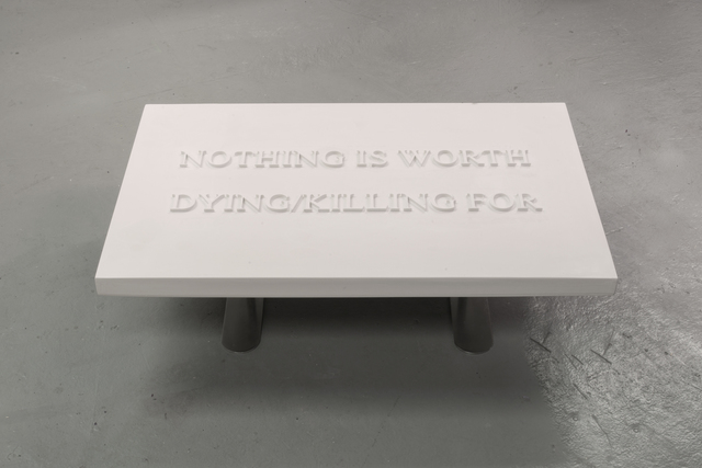 , 'Nothing is worth dying/killing for,' 2016-2116, Sabrina Amrani