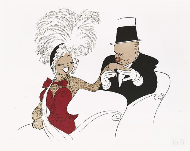 """Al Hirschfeld, '""""W.C. Fields and Mae West: My Little Chickadee""""', 1991, RoGallery"""