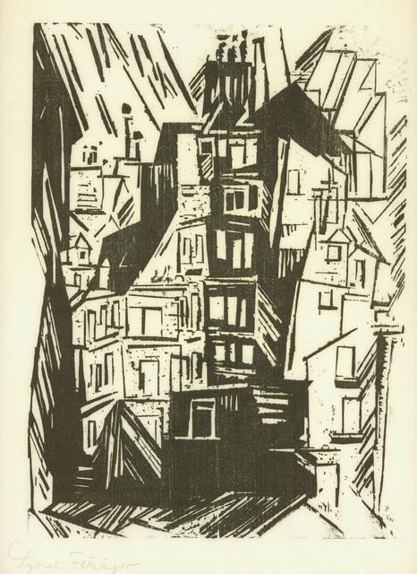 , 'PARISER HÄUSER,' 1920, Jörg Maass Kunsthandel