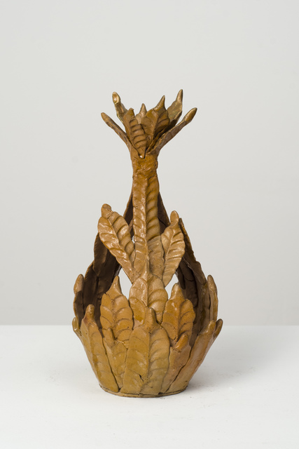, 'Untitled (brown flower top vessel),' n.d., Fleisher/Ollman