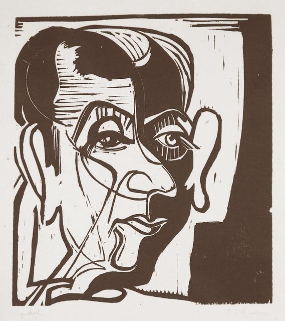 Ernst Ludwig Kirchner, 'Kopf Hans Arp (Head of Hans Arp)', 1929, Henze & Ketterer