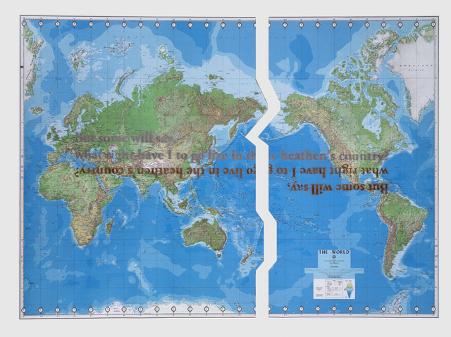 Sam Durant, 'The World (Defense Mapping Agency)', 2010, Sadie Coles HQ