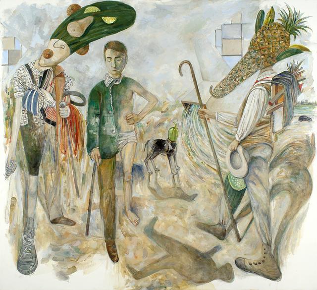 Arturo Rodriguez, 'Arcimboldo, Courbet, Cézanne, Arbus, Henri Cartier-Bresson, Mondrian, Sharaku Ghosts (The Encounter I), ', 2017, LNS Gallery