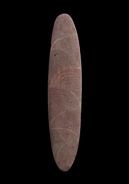 , 'A Dynamically Carved Shield,' early twentieth century, D'Lan Davidson