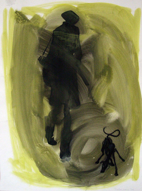 , 'Untitled [hunter with dog, yellow],' 2004, Studio SALES di Norberto Ruggeri