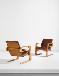 "Kem Weber, 'Pair of ""Air Line"" armchairs from Disney Studios, Burbank, California,' designed 1934, Phillips: Design"