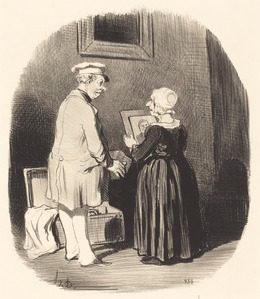 Honoré Daumier, 'Tiens, ma femme, v'la mon portrait...', 1846, National Gallery of Art, Washington, D.C.