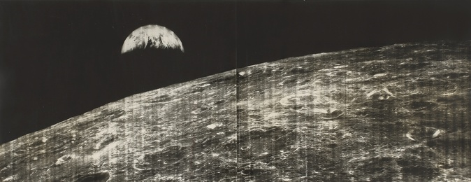 MAN'S FIRST LOOK AT THE EARTH FROM THE MOON, 23 AUGUST 1966